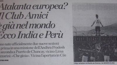 (Italiano) Atalanta europea ? Il Club Amici è già nel mondo. Ecco india e Perù.